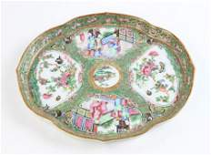19th C Chinese Rose Medallion Tray and Vases