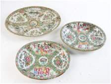 19th C Chinese Rose Medallion Platter Plates