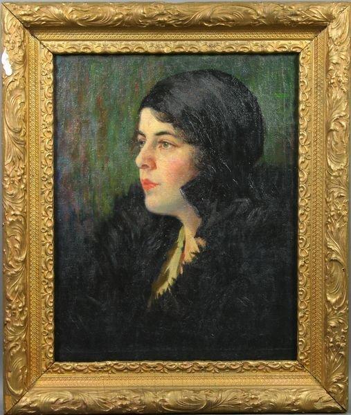 2004: Early 20th C. American School, Portrait, o/c