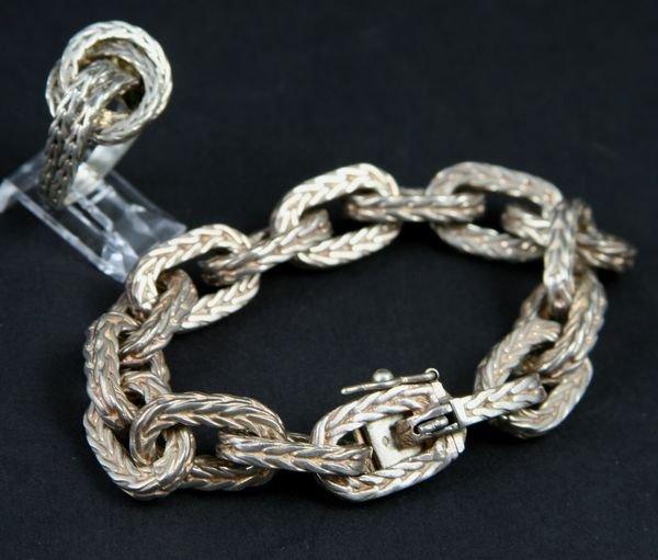 2148: French Sterling Signed Hermes Bracelet & Ring