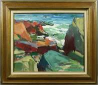 2285: Charles Movalli, Bass Rocks, o/c
