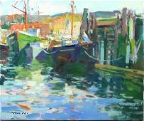 2291: Charles Movalli, Gloucester Fishing Boats, o/c