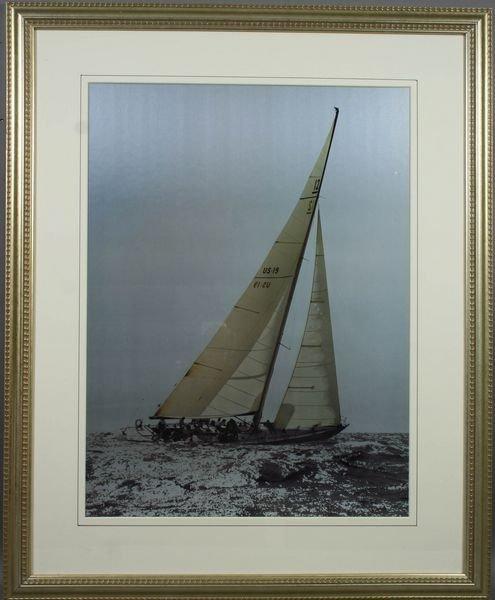 3003: Framed Black & White Photo of Sailboat