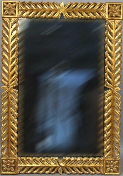 3006: 20th Century Italian Carved Giltwood Mirror