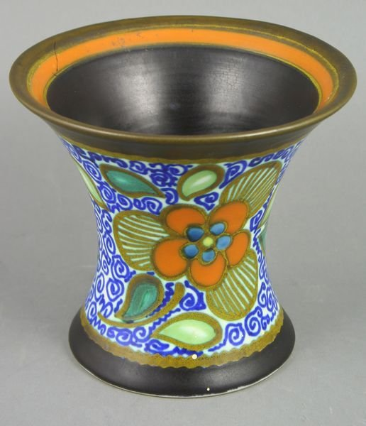3010: 20th Century Gouda Pottery Vase, Signed