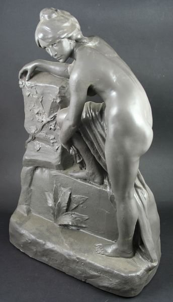 3020: 19/20th C. French Terra Cotta Sculpture, Perron