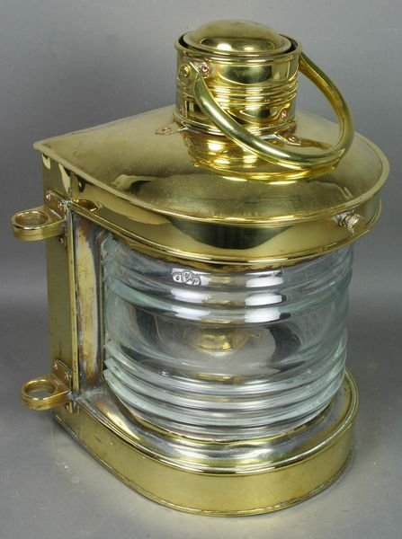 3021: Solid Brass Ship's Masthead Lantern, Fresnel