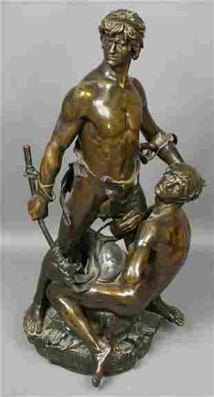 3135: Eugene Marioton, Magnificent Bronze Sculpture