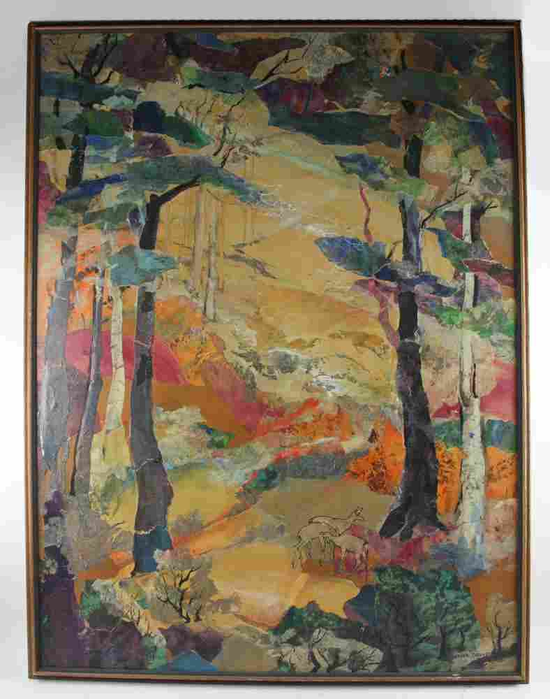 Helen Lietta Dowd, God Gave Us Autumn, Mixed Media