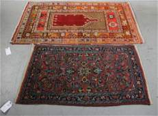 Lot of 2 Antique Rugs, Anatolian, Persian