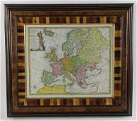 Colored Engraving Map of Europe Eman Bower