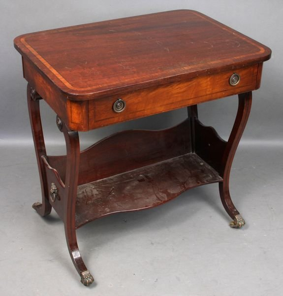 4003: Early 20thC. Regency English Mahog Side Table