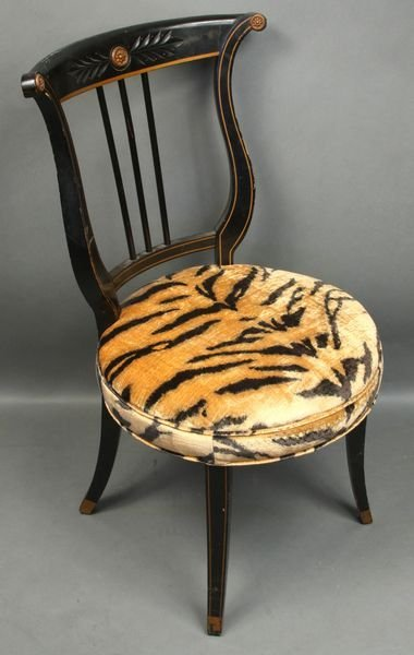 4004: 20th C. Federal-style Chair, Zebra Type Seat