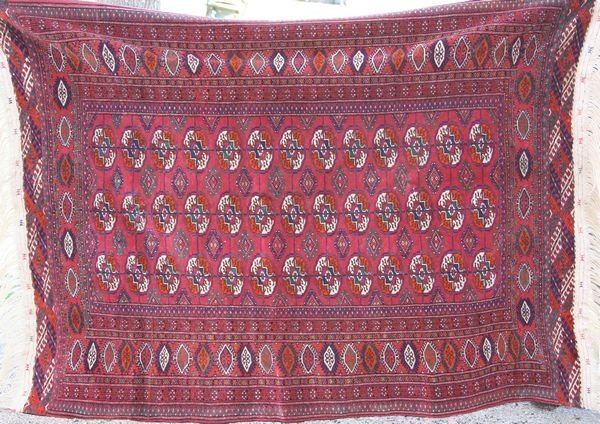 "4011: 20th C. Bokhara Rug, Long Fringe, 6' 3"" x 4' 6"""