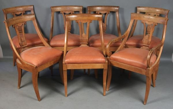 4014: Set of (7) 20th C. Italian Carved Wood Chairs