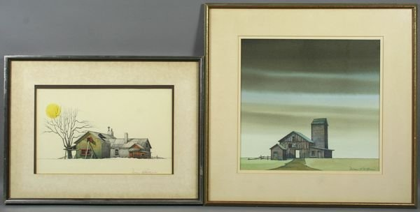 4021: Norman R. O'Brien, (2) Landscape Watercolors