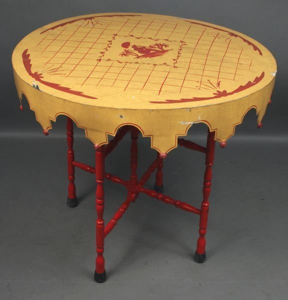 4022: 20th Century Paint-Decorated Tin Table