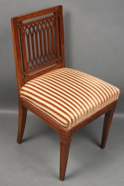4023: Early 19thC Italian Neoclassical Fruitwood Chair