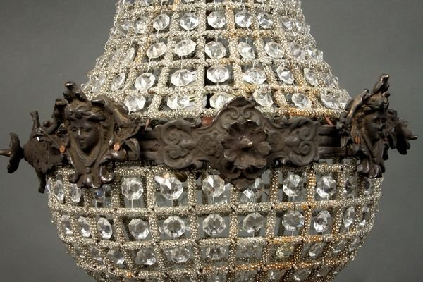 4042: 19th C. French Empire Crystal Chandelier - 2