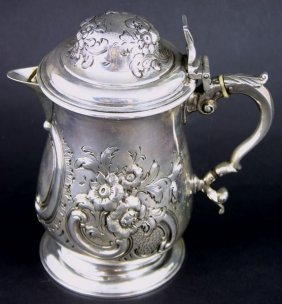 C1859 London Sterling Silver Covered Pitcher
