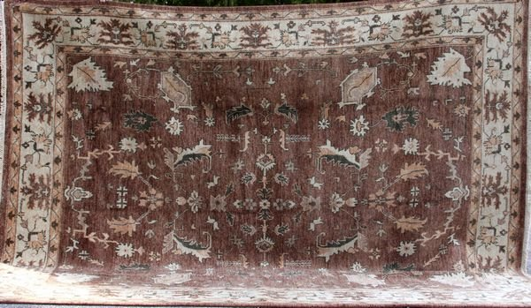 4102A: Antique-style Oushak Rug 9' x 11' 10""