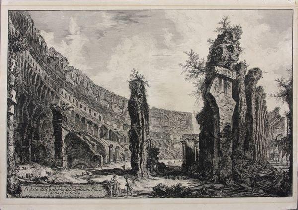 5009: 18th C. Piranesi Engraving, Anfiteatro Flavio
