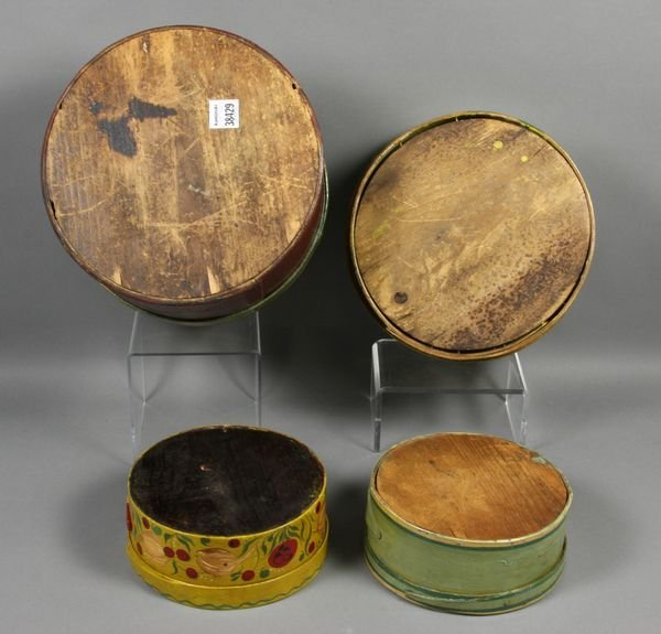 5011: Four (4) Hand-Decorated 19th C. Pantry Boxes - 4