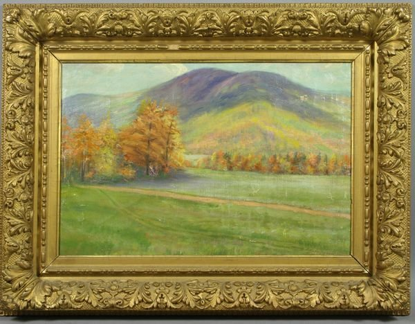 5021: Late 19th/early 20th C. Autumn Landscape, o/c