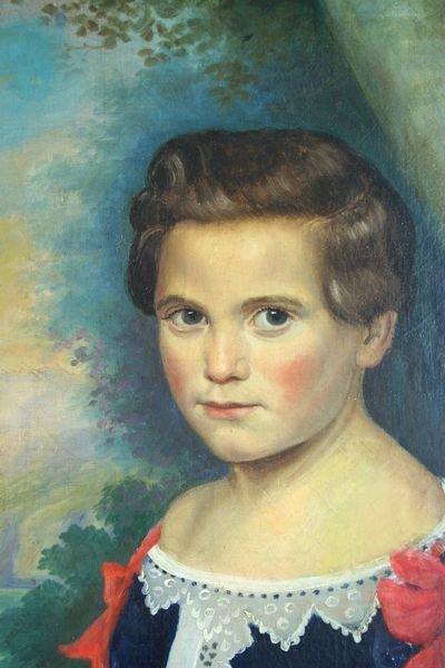 5097: Early 19th Century American Folk Art Portrait, o/ - 2