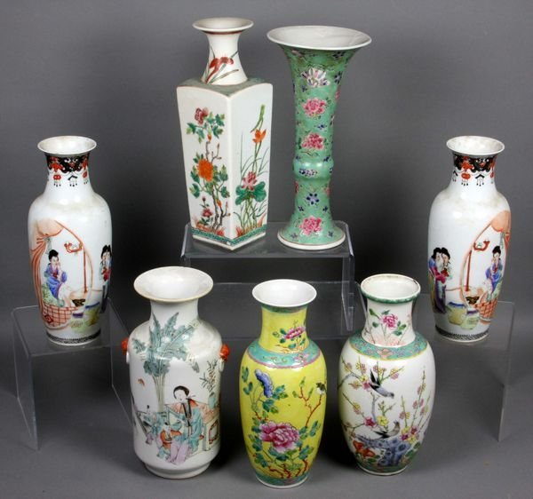 5209: (7) 19/20th C. Chinese Porcelain Vases
