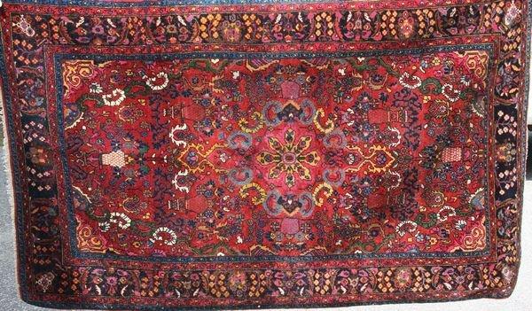 """4: Semi-antique Hamadan Rug, 5' 5"""" x 3' 4"""""""