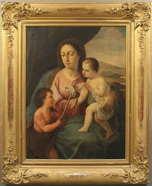 6: 18/19th C. Italian School, Madonna & Child, o/c