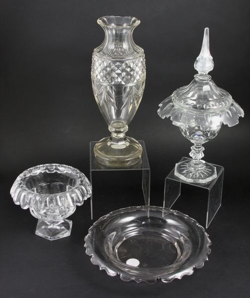 15: Four (4) Pieces of 19th Century Cut Glass