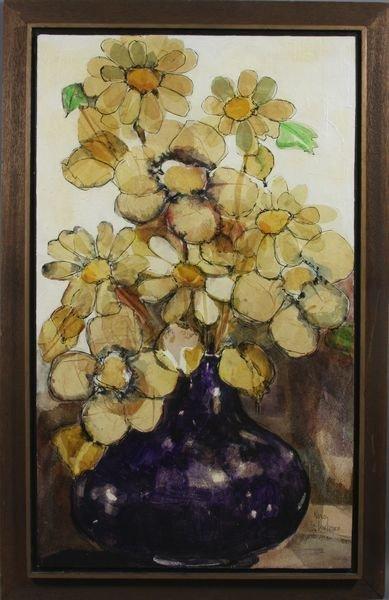 17: Nancy St. Lawrence, Still Life w/ Flowers, o/b