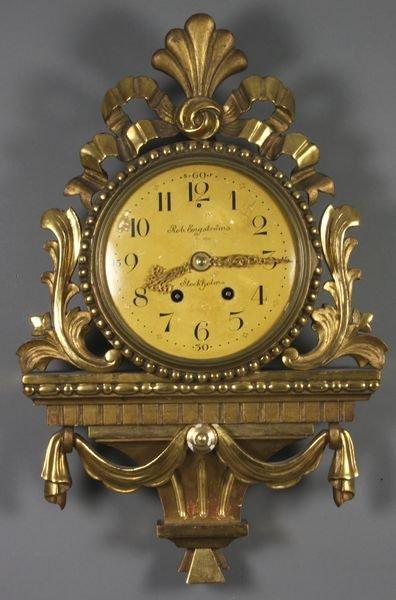 19: 19/20th C. Louis XVI Wall Clock, Rob. Engstrom