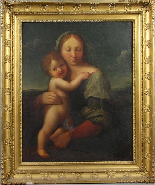 21: Oil on Canvas of Raphael's Madonna & Child