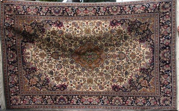 "23: Semi-antique Kashan Rug, 7' 3"" x 4' 8"""