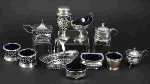 203: (11) Early 20th C. English Silver Table Items