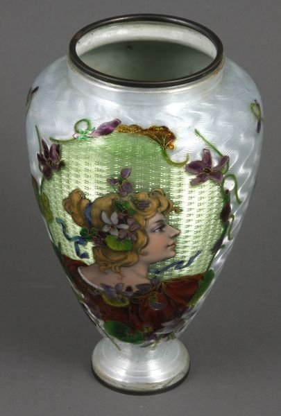 8: Exceptional 19/20th C. French Enameled Vase