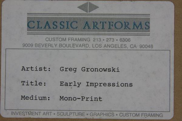 128A: Greg Gronowski, Early Impressions, Mono Print - 5