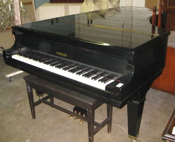 135A: Chickering Concert Grand Piano w/ Bench