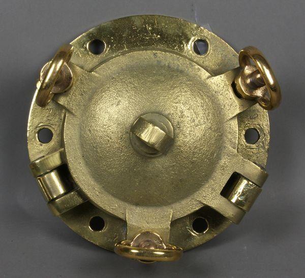 1175: WWII Solid Brass Ship's Porthole w/ Brass Door