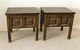 Pair of 1960s Wooden Lamp Tables