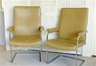 Midcentury Chrome Armchairs