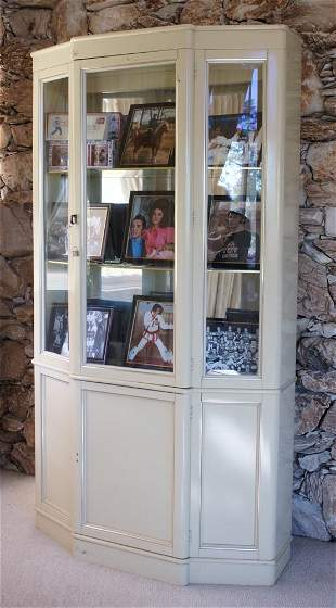 Mid Century Style Painted Display Case