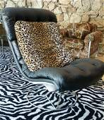 Vintage Black Upholstered Chair