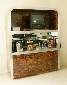 Vintage Faux Tortoise Shell Cabinet