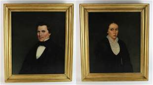Pair of Early 19thC American Portraits