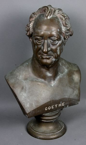 """2002: Bronze Bust of Goethe with """"Tiffany"""" Stamp"""