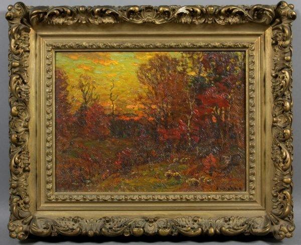 2008: John Enneking, Sunset in the Woods, o/b
